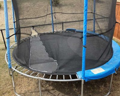 12 JumpTek Trampoline with extra mat and springs