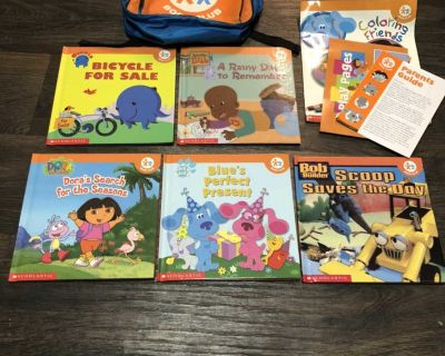 NEW Nick Jr Books and Backpack