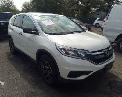 Salvage White 2016 Honda Cr-v