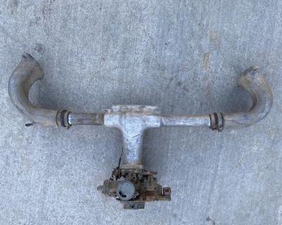 Vintage scat holly/zenith manifold w/carburetor