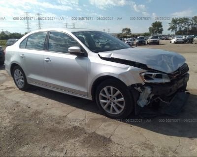 Salvage Silver 2011 Volkswagen Jetta Sedan