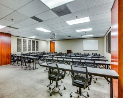 Corporate Training & Meeting Room With Drop Down Projector & Screen, Dallas, TX