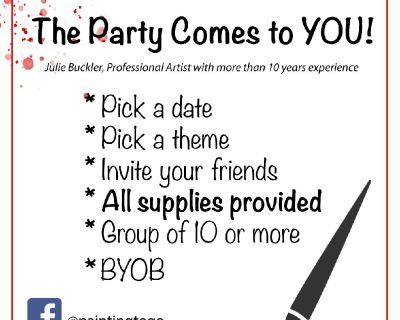 Painting to Go! The Party Comes to YOU!
