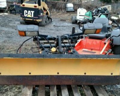 """Meyer Poly Plow Snow Plow Setup 6' 6"""" With Pump Lights Chevy Ford Dodge"""
