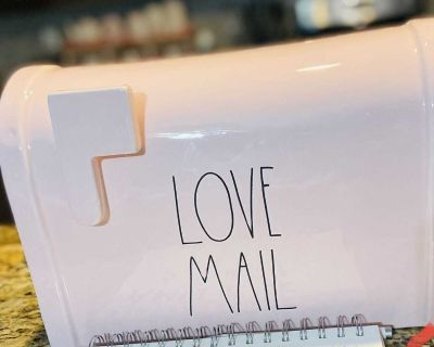 Rae Dunn Love Mail Mailbox New