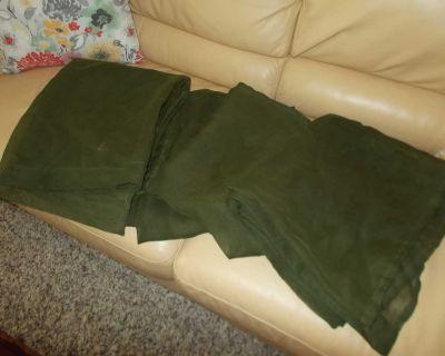 4 hunter green sheer curtain panels