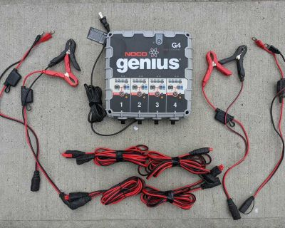 NOCO Genius G4 4-Bank Battery Charger/Maintainer