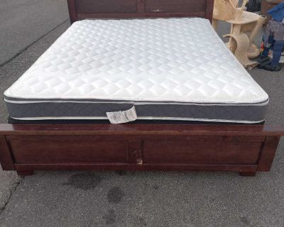 Queen bed and frame