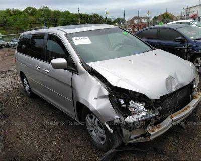 Salvage Beige 2007 Honda Odyssey