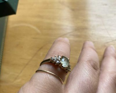 10k gold band ring with diamonds
