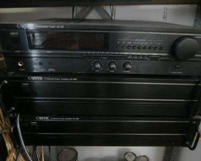 vintage carver stereo system will separate