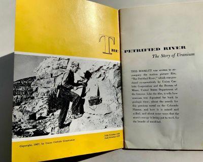 The Petrified River-Story of Uranium Booklet 1956 Union Carbide