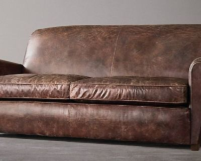 Leather Couch and Cigar Chairs