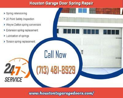 24/7 Residential Garage Door Spring Repair ($25.95) Houston, 77008 Texas
