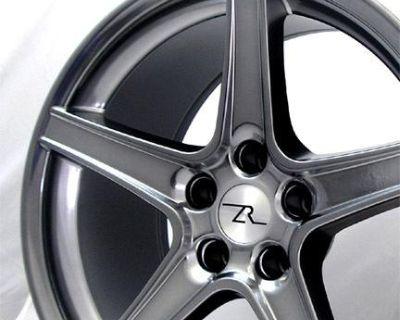 "18 X9 & 18x10 Inch Hyperblack Mustang Wheels Fit Saleen 18"" 1994 - 2004 Rims"