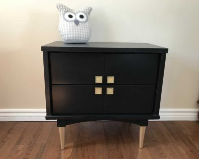 Refinished Mid Century Modern Night Stand / Side Table