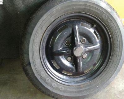 4 Lug Original Et41 Rim And Goodyear 165sr15