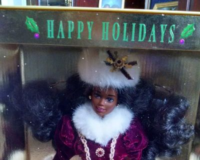 1996 Black Collectable Special Edition Holiday Barbie