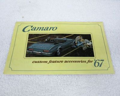 Nos 1967 Camaro Rs Ss Z/28 Convertible Custom Feature Accessories Booklet Dp