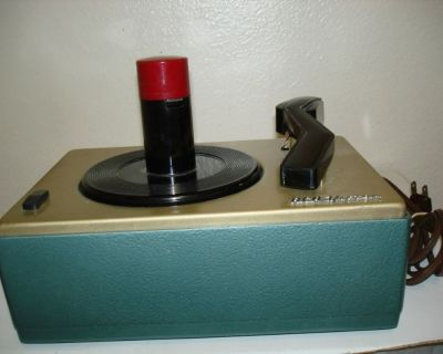 RCA Victor 45 RPM Record Player 1950s Model 45-j-2 !