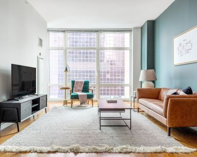 Crisp Midtown 1BR w/ Gym, Doorman, W/D, nr. Times Square, by Blueground - Theater District