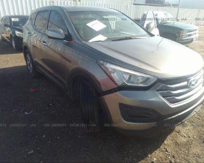 Salvage Gray 2016 Hyundai Santa Fe Sport