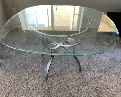 Glass 48 dining table