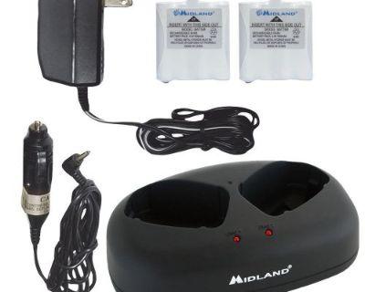 Midland #avp-6 - Desktop Charger W/ 2 Rechargeable Batteries