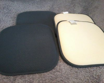 "Used 4 Pack Memory Foam Honeycomb Nonslip Back 16""x16""x1.77"" Chair/Seat Cushion Pad."