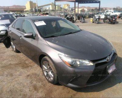 Salvage Gray 2017 Toyota Camry