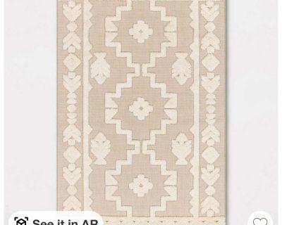5x7 tufted cream rug