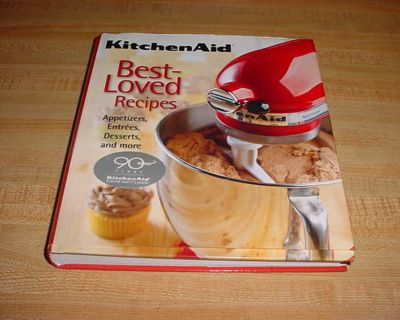 KitchenAid Best-Loved Recipes 225-Page Hardcover Cookbook. Contents: Appetizers , Breads , Breakfast & Bunch , Cakes , Cookies, Bars...