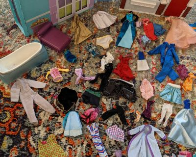 Barbie doll accessories All sorts including 2 Dream houses