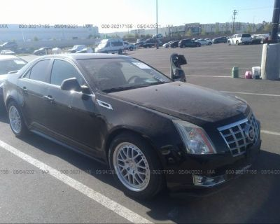 Salvage Black 2013 Cadillac Cts Sedan