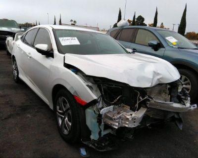 Salvage White 2016 Honda Civic Sedan