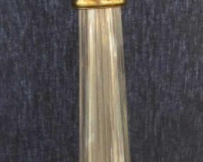 Vintage Waterford Hollywood regency style crystal lamp