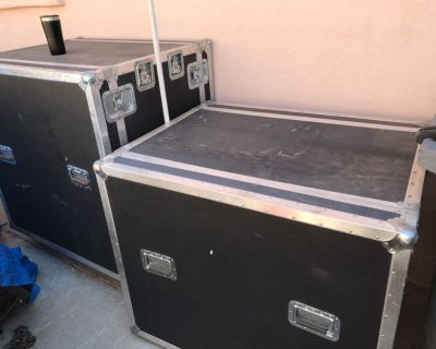 Band electronics touring cases