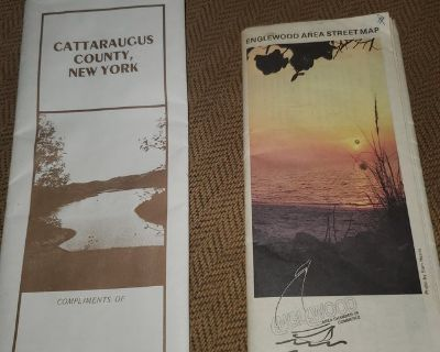 Free old maps Cattaraugus County NY and Englewood Florida