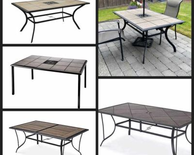 ISO tile topped patio table
