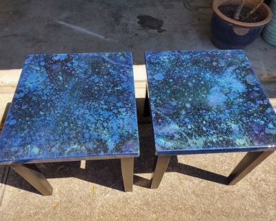 Beautiful one of a kind end tables.