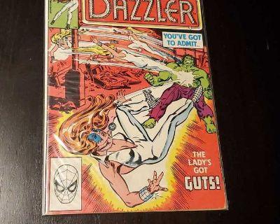 Dazzler # 7 - some wear- Hulk appearance- Marvel Comics