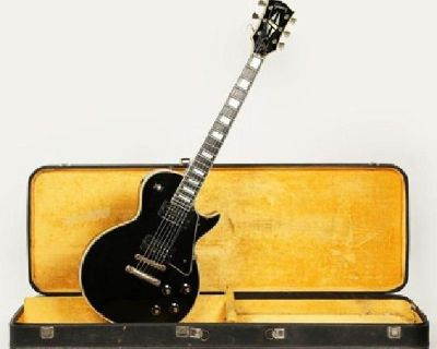 1969 Gibson Les Paul Custom Black Beauty Standard Vintage Electric Guitar