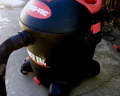 Shop vac 12gal 6.5hp built in blower!