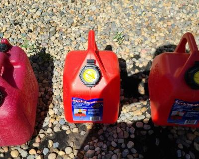 3 gas cans. $15 for all