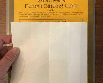 2 sided Quilters Reference for Perfect Binding Card