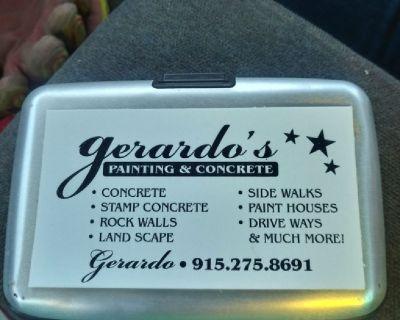 "Concrete and Painting ""Gerardo's"