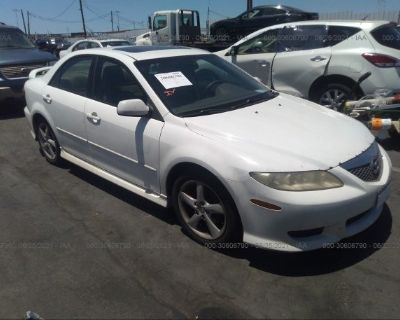 Salvage White 2004 Mazda Mazda6