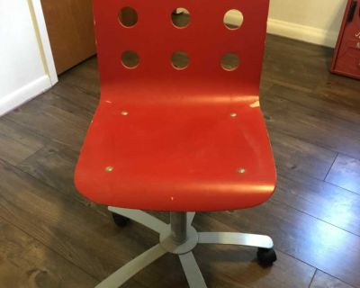 Red roller chair