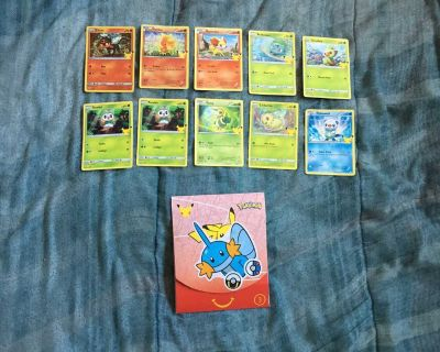 10 McDonald s Pok mon Cards with Card Pack