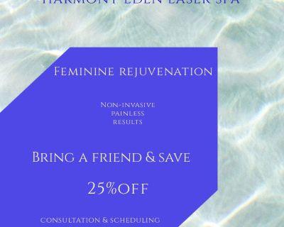 Laser Lipo, Feminine Rejuvenation, Sauna Detox